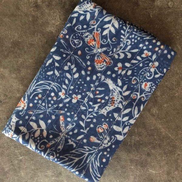 Blue Floral Stole
