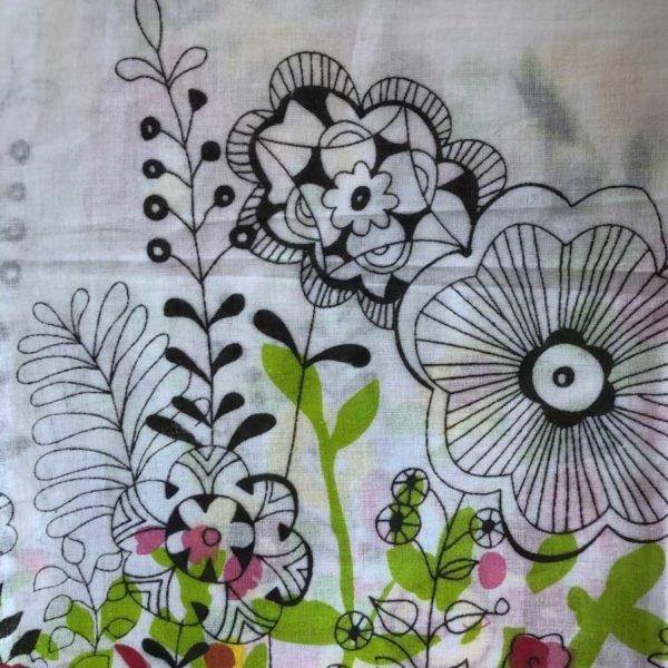 Floral White Printed Sarong