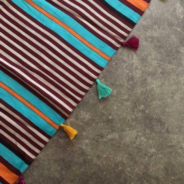 Striped Tassel Stole